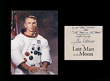 Eugene Cernan. Apollo17 Moonwalker. Signature