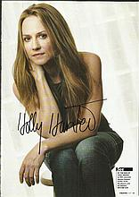Holly Hunter signed A4 colour full length magazine