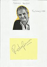 Rodney Bewes signed autograph piece fixed to