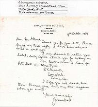 Letter from SQUADRON LEADER JOHN ANTHONY SANDERSON
