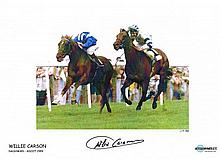 Willie Carson Signed Limited Edition 16 X 12