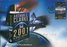 ARTHUR C CLARKE: 2001 First Day Cover signed by
