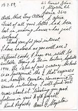 Handwritten letter. South African SQUADRON LEADER