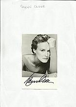 Glen Close signed 6 x 4 black and white photo from