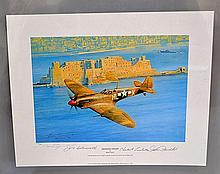 Robert Taylor Fighter Sweep Multisigned 1994 Print