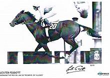 Lester Piggott Signed 16 X 12 Limited Edition