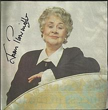 Joan Plowright signed 8 x 8 colour magazine photo