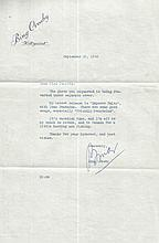 Bing Crosby Scarce original 1948 typed letter