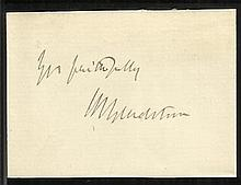 William Ewart Gladstone, FRS, FSS Hand-signed 2.5