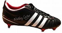 NOBBY STILES: Retro Adidas football boot (Brand