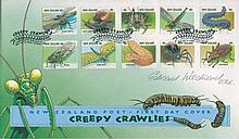 EDWARD WOODWARD: New Zealand wildlife FDC signed