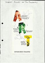 Tom Courtney & Albert Finney signed Wyndhams