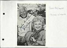 Googie Withers & John McCallum signed 6 x 4 photo