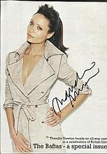 Thandie Newton signed 10 x 8 colour magazine photo