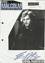 Ewan McGregor signed irregularly cut magazine