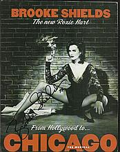 Brooke Shields signed 10 x 8 magazine photo from
