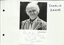 Charlie Drake signed 6 x 4 b/w portrait photo,