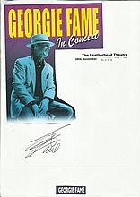 Georgie Fame signed A4 page with magazine photo