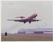 Brian Trubshaw signed 10 x 8 VC10 tanker photo