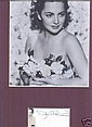 Olivia De Havilland Signed Card and picture