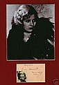 Joan Bennet Signed RMS Q Mary 1936 and picture