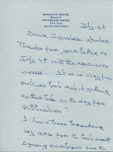 Lord Lovat: Very rare handwritten letter on headed