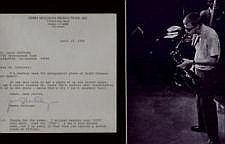 Gerry Mulligan Typed Signed Letter and picture