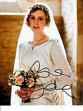Laura Carmichael 8x10 c photo of Laura from Downton Abbey, signed by her at Baftas, London,2014 Good