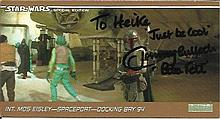 Jeremy Bulloch signed special edition Star Wars trading card.  Good condition