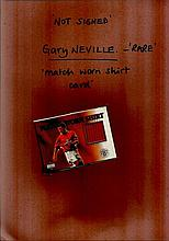 Gary Neville rare limited edition match worn shirt trade card not signed.  Good condition