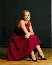 Joanne Froggart 8x10 c photo of Joanne star of Downton Abbey, signed by her in London, 2014 Good con