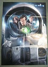 Doctor Who autographed poster. Large 84cm x 60cm colour poster from Doctor Who magazine, autographed