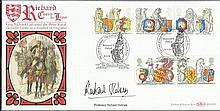 Professor Richard Holmes 1998 The Queens Beasts Benham BLCS139 official FDC signed by Professor Rich