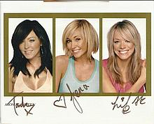 Atomic Kitten signed 10x8 colour photo.  Good condition