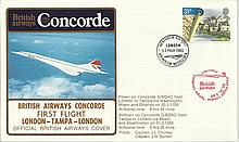Concorde first flight London Tampa London on 30/31st March 1985.  Flown by Capt J L Chorley and Capt