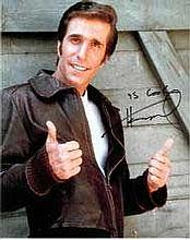 Henry Winkler 8x10 c photo of Henry as The Fonz, signed by him in London, 2014 Good condition