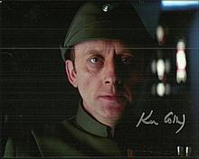 Ken Colley signed 10 x 8 colour photo from Star Wars. Good condition