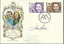 Lord Lichfield signed 1973 Royal Wedding FDC, nice Philart cover with Westminster Abbey postmark. Go