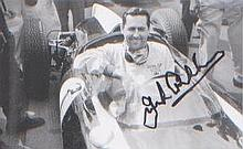 Sir Jack Brabham. Postcard sized picture of the racing champion. Excellent.