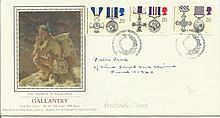 Peter Vana Royal Tank Reg France 1940 signed 1990 PPS silk Gallantry FDC. Good condition