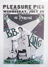 B B King autographed poster. Nice colour 32cm x 45cm reproduction of a poster autographed by legenda