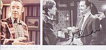 Only Fools and Horses. A pair of pictures signed by Jim Broadbent and Roger Lloyd Pack. Excellent.