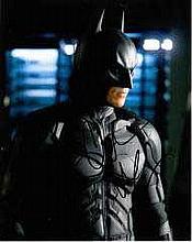 Christian Bale 8x10 c photo of Christian as Batman, signed by him at Exodus LondonPremiere, 2014 Goo