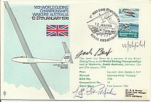 Colditz inmates Bill Goldfinch & Jack Best signed 1974 Glider RAF cover. Good condition