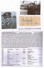 Squadron Leader/ Captain Eugeniusz Horbaczewski DSO DFC Extremely rare logbook fountain pen signatur
