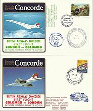 Concorde first flight London Colombo and return dated 13/14/15/16th February 1985. Flown by H C Mcmu