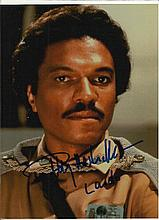 Billy  Dee Williams colour photo as Lando Calrissian in Star Wars.  Good condition