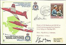 AVM Frederick Sowry and Ernest Folley AFC C45 C45 28 April 77 Introduction of the Hawk into the Roya