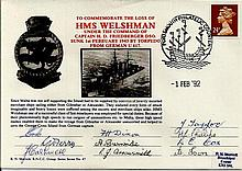 Commemorating loss of HMS Welshman signed Royal Naval cover 1/2/92.  Good condition