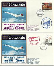 Concorde first flight London Helsinki and return dated 22nd May 1985.  Flown by Capt A J Massie and